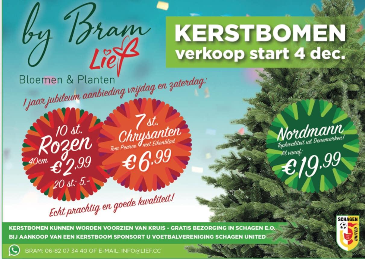 Sponsoractie kerstbomen
