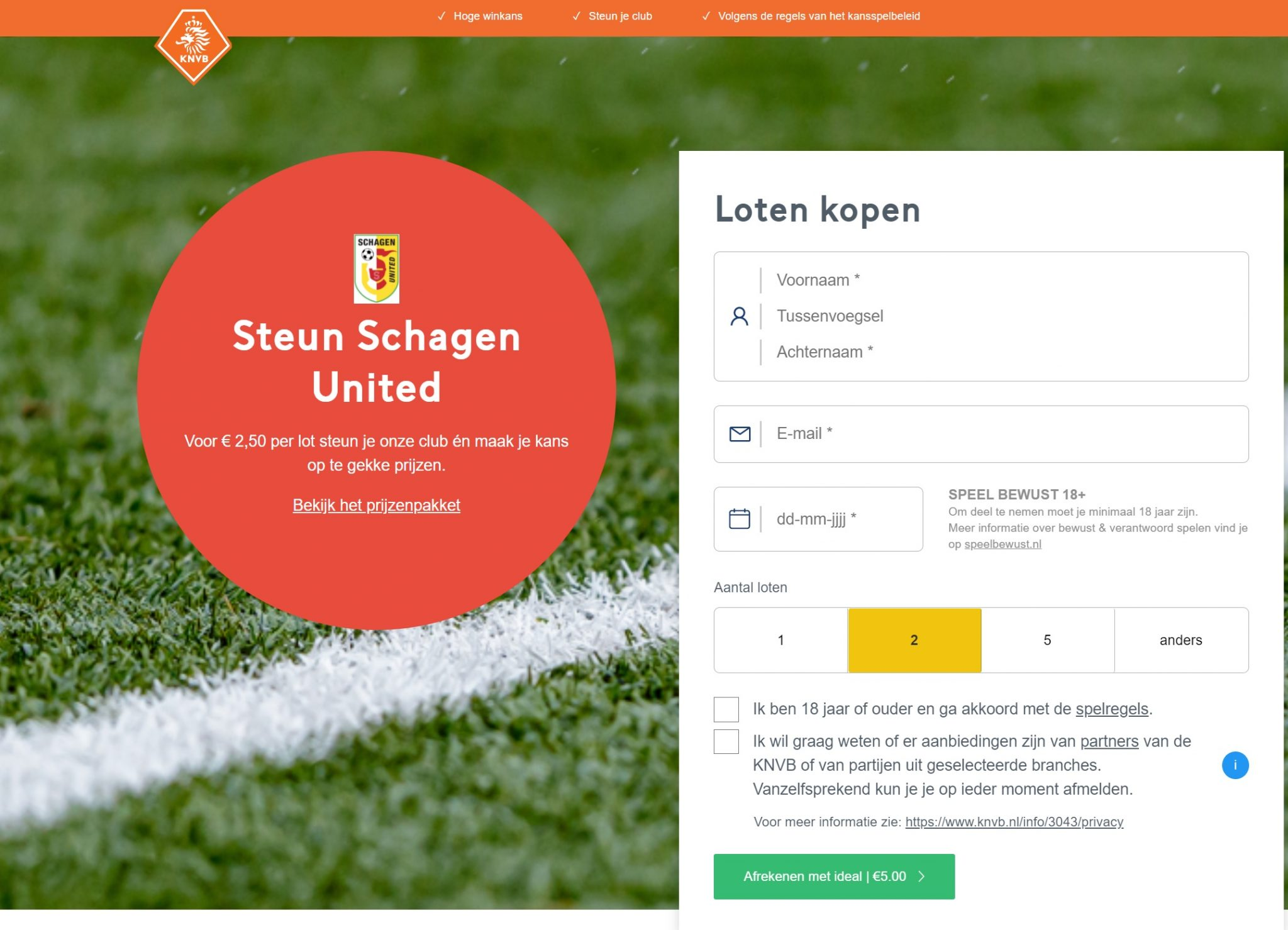 Amateurvoetballoterij van de KNVB